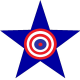 logo star target blue